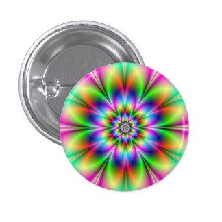 Flower in Neon Button