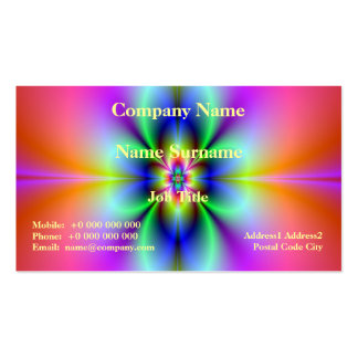 Flower in Neon Card Business Card Template