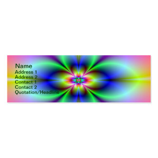 Flower in Neon Card Pack Of Skinny Business Cards