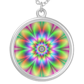 Flower in Neon Necklace