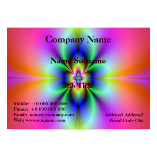 Flower in Neon Pack Of Chubby Business Cards