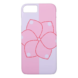 Flower in purple and pink iPhone 7 case