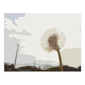 Flower in the Blue Sky Postcard