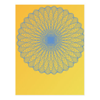 flower in yellow 482  abstract art post card