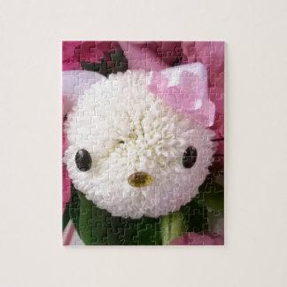Flower Kitty Jigsaw Puzzle