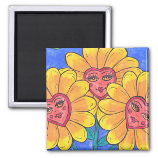 Flower Ladies Magnet