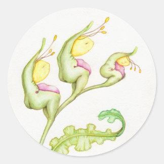flower ladies round sticker