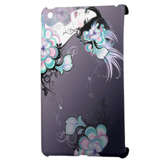 Flower lady design cover for the iPad mini