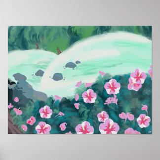 Flower Landscape Poster