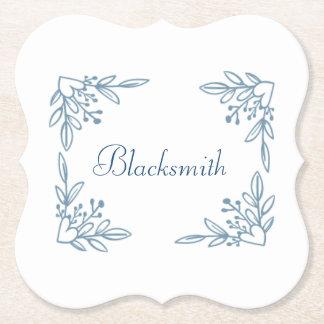 Flower Last Name Coasters