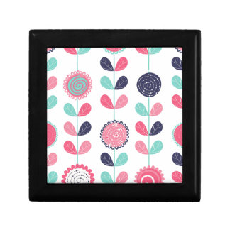 Flower leafs small square gift box