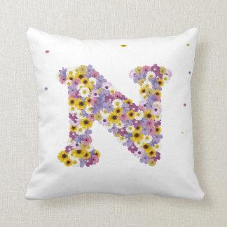 Flower letter N Cushion