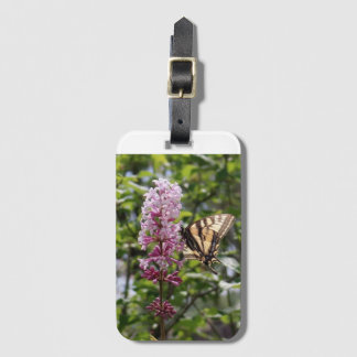 Flower, lilac luggage tag