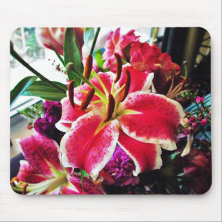flower lily mouse pad