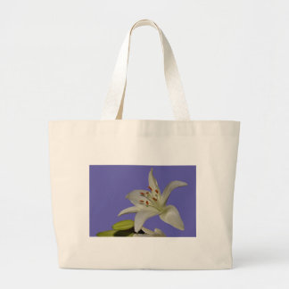 Flower Lily White Isolated Office Party Peace Love Bag