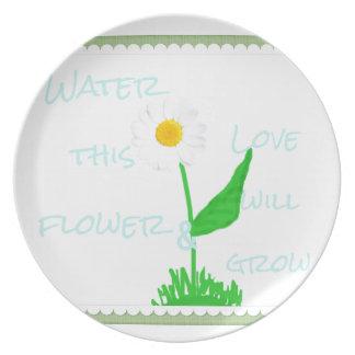 Flower love plate