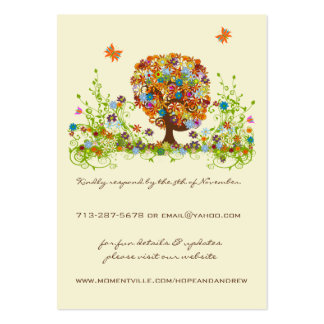 Flower Love Tree Response and Website Cards Business Card