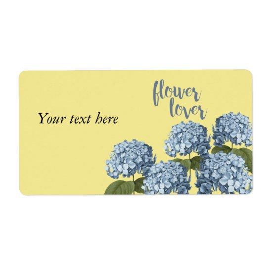 Flower lover floral Label