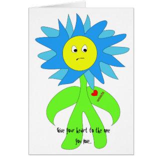 Flower Loves Weeds Card