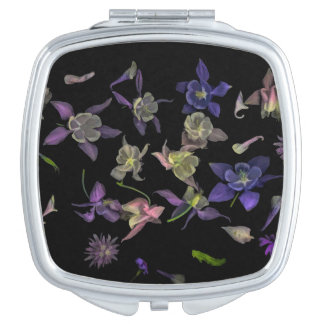 Flower Magic Square Compact Mirror
