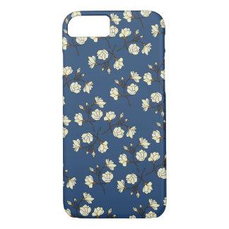 Flower Magnolia(Blue) iPhone case