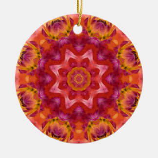 Flower Mandala 05 Ceramic Ornament