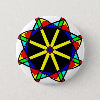 Flower mandala 6 cm round badge