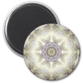 Flower Mandala 6 Cm Round Magnet