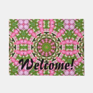 Flower Mandala, Bleeding heart Doormat