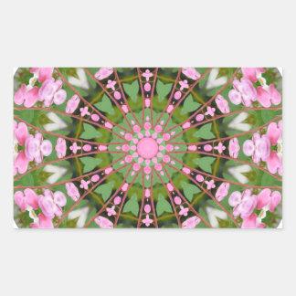 Flower Mandala, Bleeding Hearts 02.0_rd Rectangular Sticker
