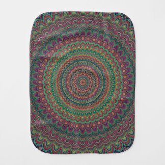 Flower mandala burp cloth