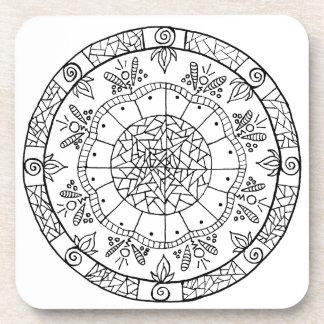 Flower Mandala Coaster