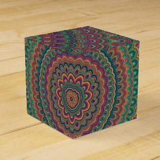 Flower mandala favour box