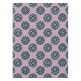 Flower Mandala, Forget-me-nots Tablecloth