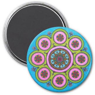 Flower Mandala Fridge Magnet