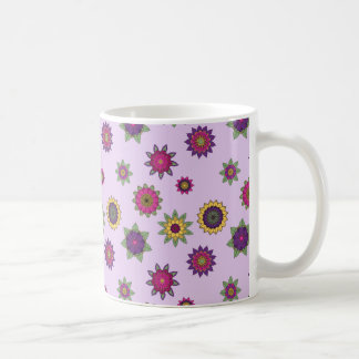 Flower Mandala Garden Mug Purple