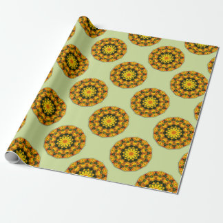 Flower-Mandala, golden poppies, Californian poppy Wrapping Paper