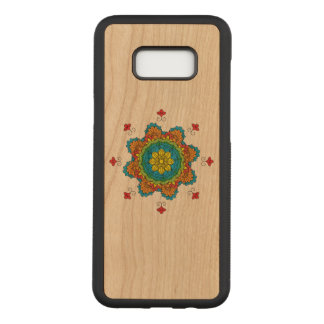 Flower Mandala in turquoise colors. Vintage decora Carved Samsung Galaxy S8+ Case