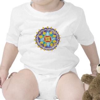 Flower Mandala  Infant Organic Creeper, Natural