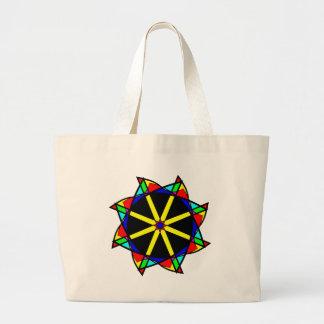 Flower mandala large tote bag