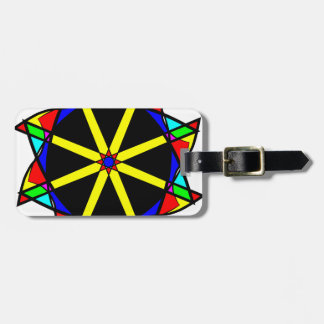 Flower mandala luggage tag