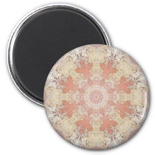 Flower mandala fridge magnets