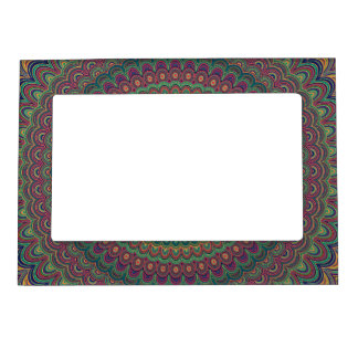 Flower mandala magnetic picture frame