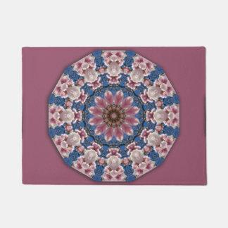 Flower Mandala, pink spring blossoms Doormat