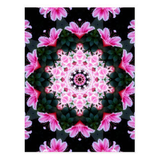 Flower Mandala Post Card