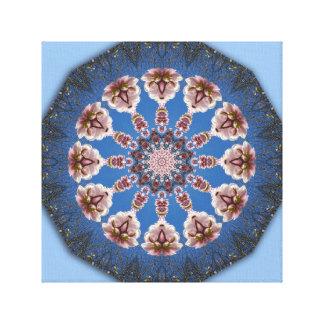 Flower-Mandala, spring blossoms Stretched Canvas Prints