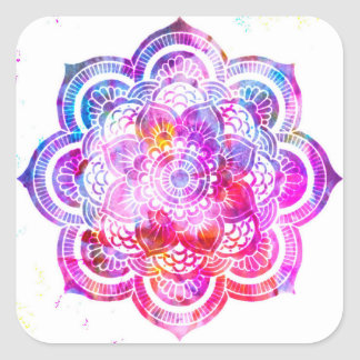 Flower Mandala Square Sticker