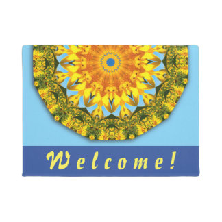 Flower-Mandala, Sunflower Doormat