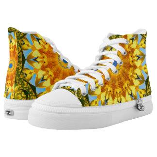 Flower-Mandala, Sunflower High Tops