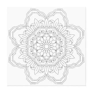 Flower Mandala. Vintage decorative elements. Orien Canvas Print